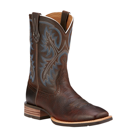 Men's Quickdraw Square Toe Boot Brown Oiled Rowdy