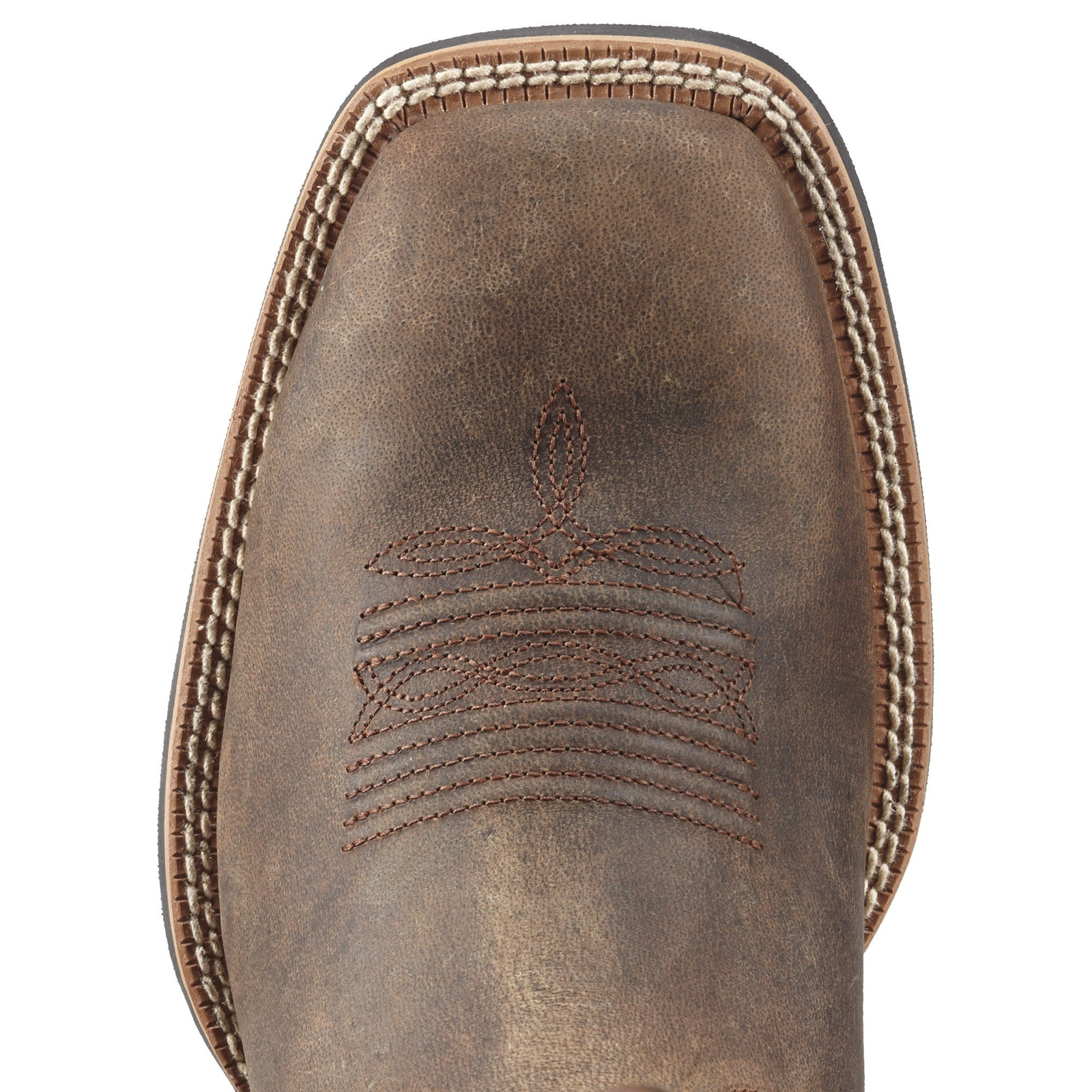 Ariat Men's Sport Wide Square Toe Distressed Brown - VaqueroBoots.com - 2