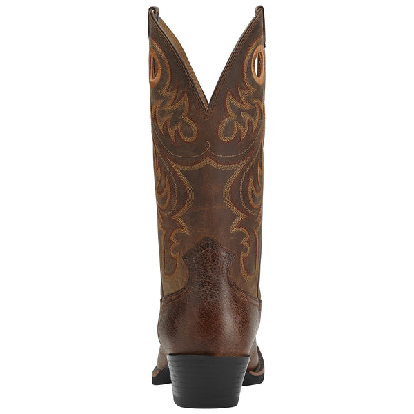 Ariat Men's Sport Square Toe Boots Fiddle Brown - VaqueroBoots.com - 2