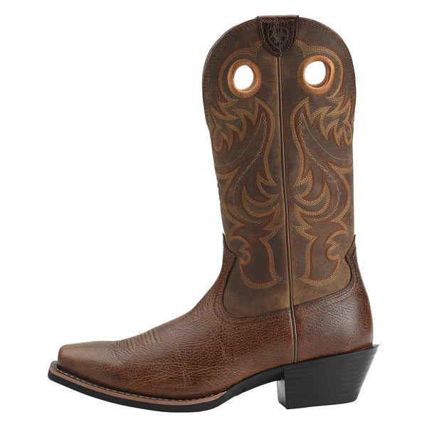 Ariat Men's Sport Square Toe Boots Fiddle Brown - VaqueroBoots.com - 3