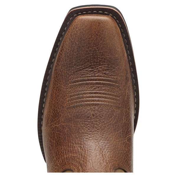 Ariat Men's Sport Square Toe Boots Fiddle Brown - VaqueroBoots.com - 4
