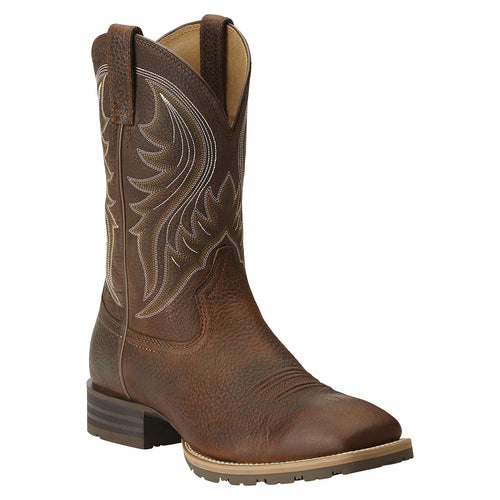 Ariat Men's Hybrid Rancher Square Toe Boot Brown Oiled Rowdy - VaqueroBoots.com - 1