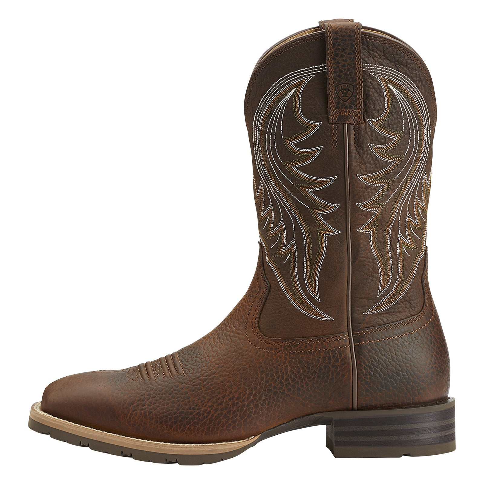 Ariat Men's Hybrid Rancher Square Toe Boot Brown Oiled Rowdy - VaqueroBoots.com - 3