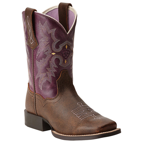 Ariat Kid's Tombstone Western Square Toe Boots