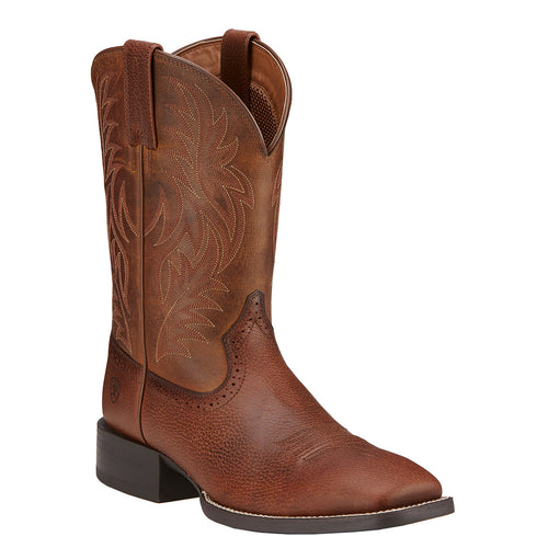 Ariat Men's Sport Western Square Toe Boot Fiddle Brown