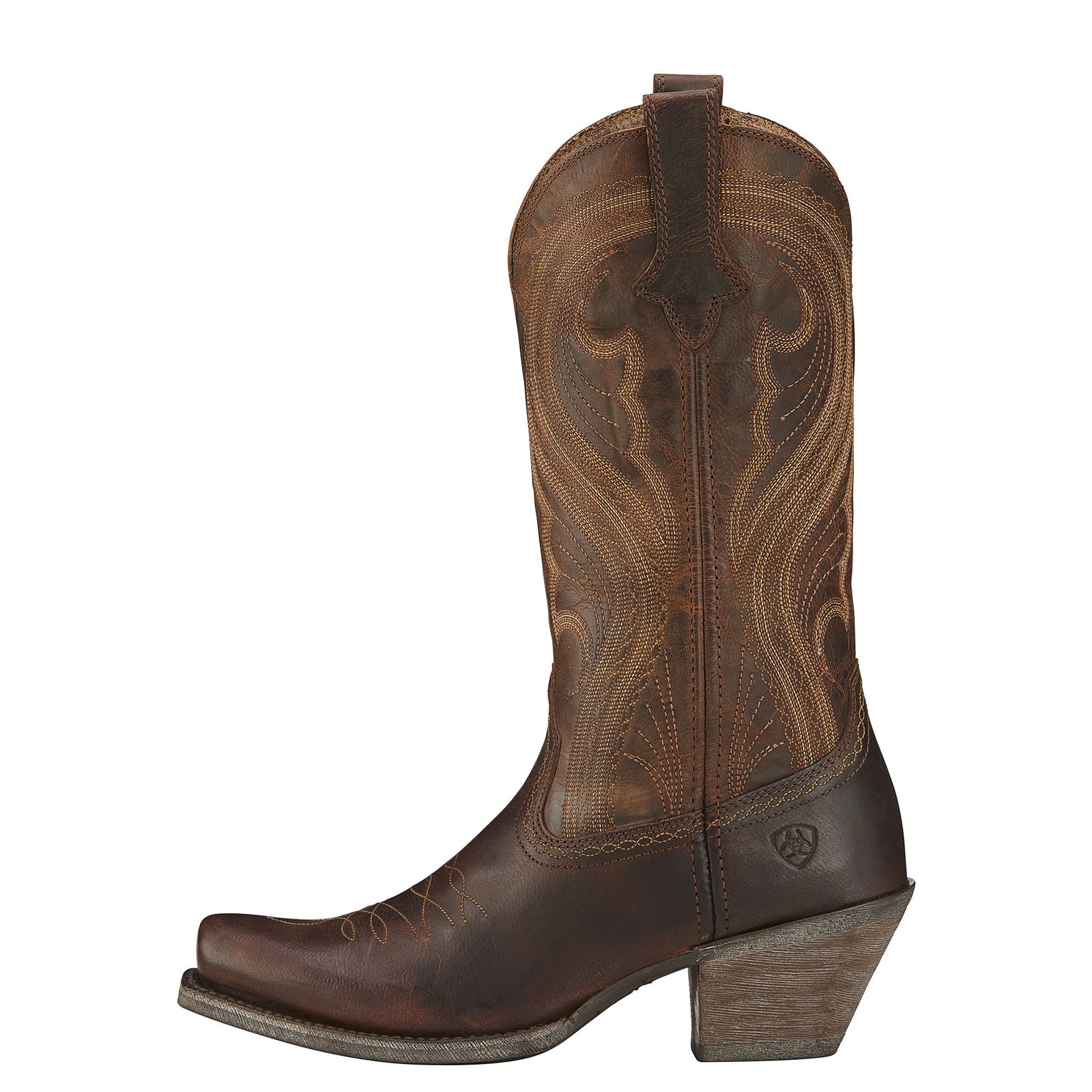 Ariat Women's Lively Sassy Brown Western Fashion Boots - VaqueroBoots.com - 3