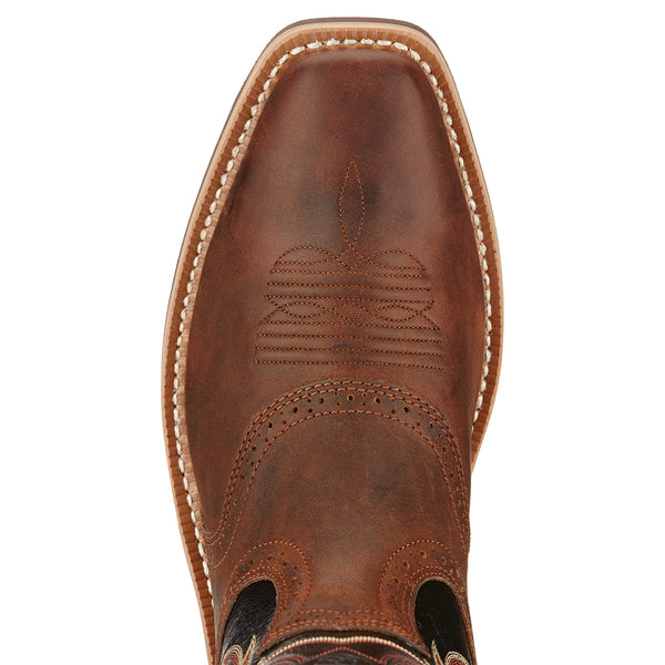 Ariat Men's Heritage Roughstock Western Boot Bar Top Brown - VaqueroBoots.com - 4