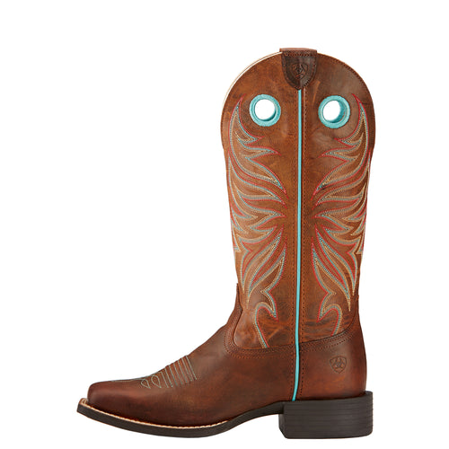 Ariat Women's Round Up Ryder Square Toe Sky Blue Boots