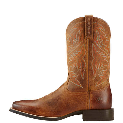 Ariat Mens Sport Herdsman Powder Brown Boots