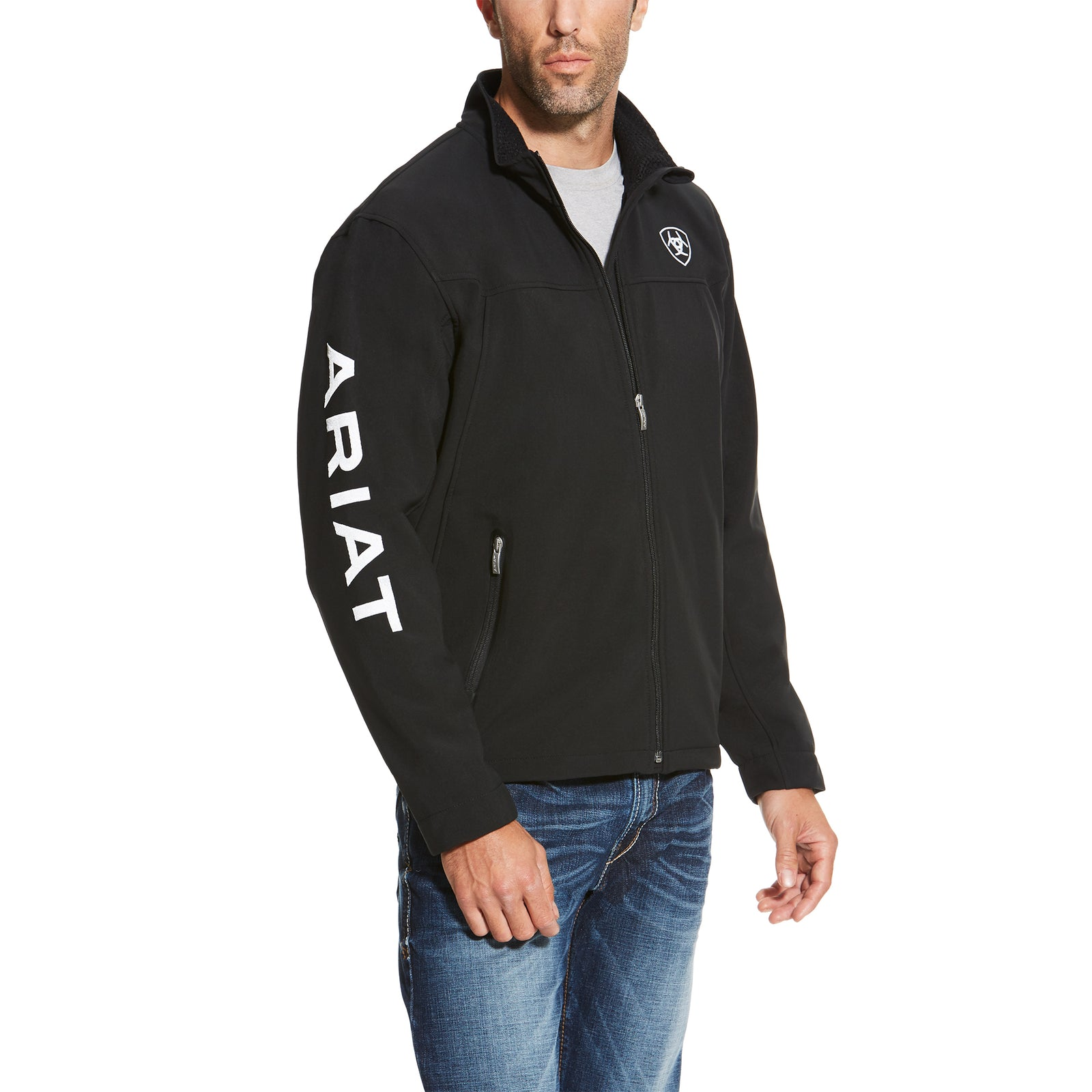 Ariat Men's New Team Soft Shell Black Jacket