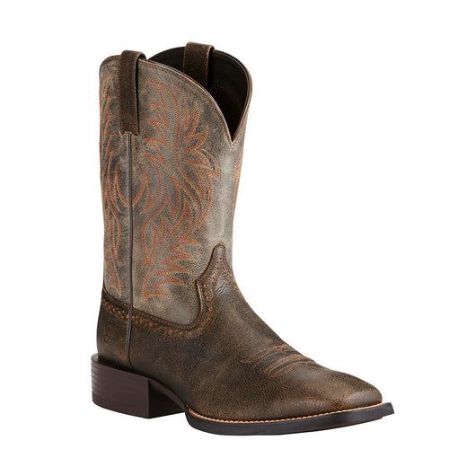 Ariat Men's Brooklyn Brown Sport Western Square Toe Cowboy Boot