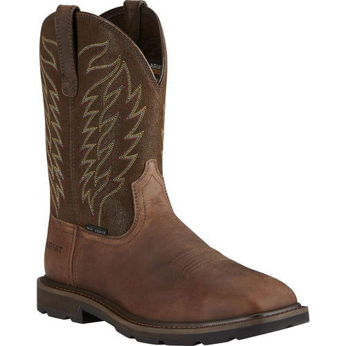 Ariat Mens Groundbreaker Square Toe Steal Toe Work Boots