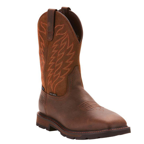 Ariat Groundbreaker Wide Square Toe Waterproof Steel Toe Work Boot