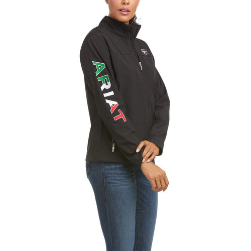 Women's New Team Softshell Mexico Jacket Black