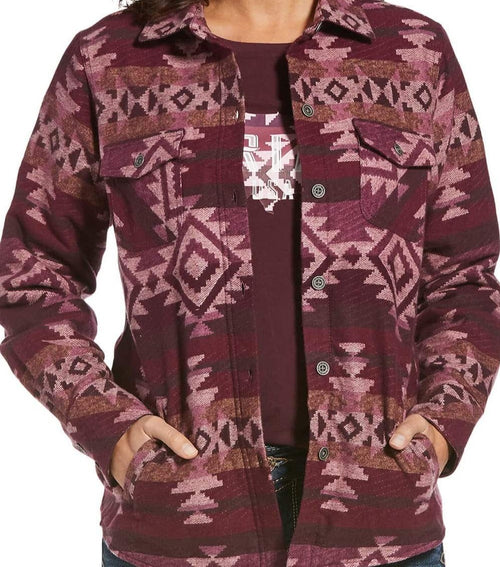Ariat Women's Real Wineberry Aztec Shacket Jacket