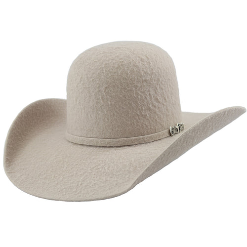 Cuernos Chuecos 10x Grizzly Silver Belly Open Crown Cowboy Felt Hat
