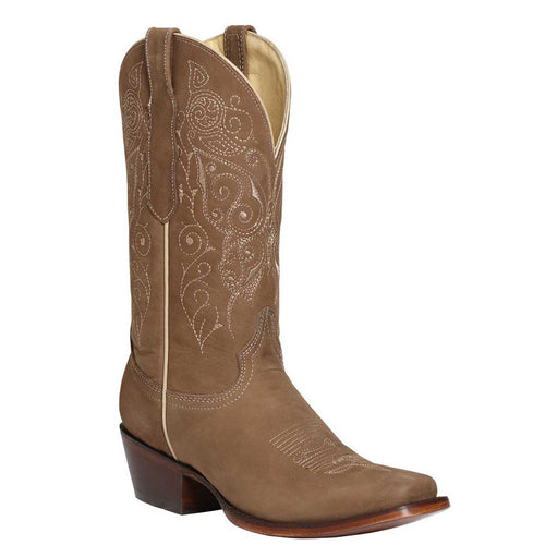 El General Nuez Square Toe Cowgirl Boots