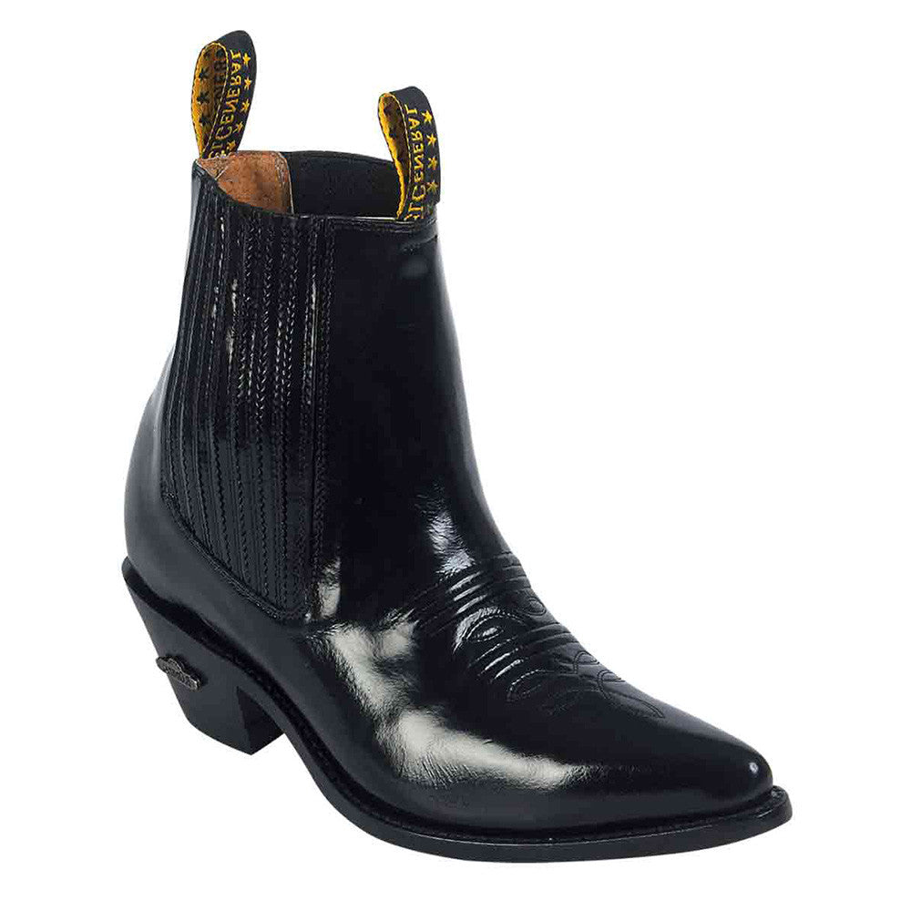 Men's Pointed Toe Western Ankle Boot
