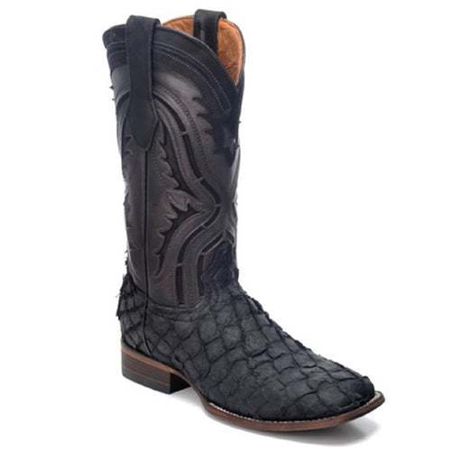 Cuadra Men's Pirarucu Exotic Cowboy Boots