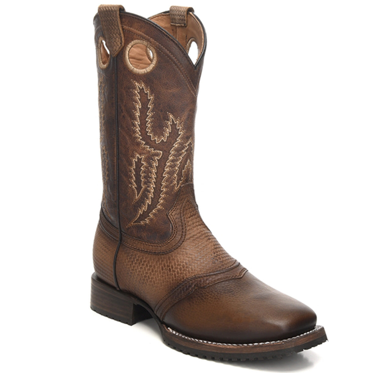 Cuadra Men's Volcano Brown Square Toe Boots