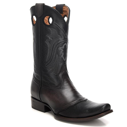Cuadra Men's Santana Black Semi Square Toe Boots