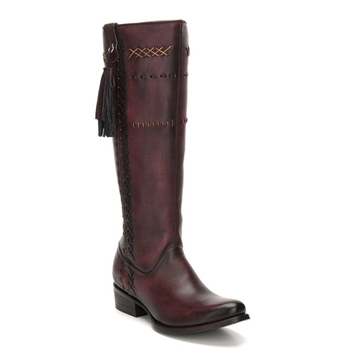 Cuadra Ladies Wax Wine Tall Boots Res Volturno - 1X2XCS