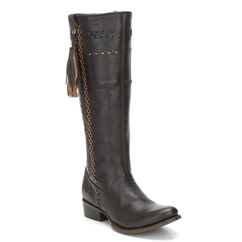 Cuadra Ladies Res Crust Brown Tall Boot - 1X2XCS