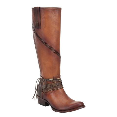 Cuadra Antique Miel Ladies Genuine Lizard Tall Boot