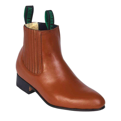La Barca Men's Caoba Leather Botin Charro