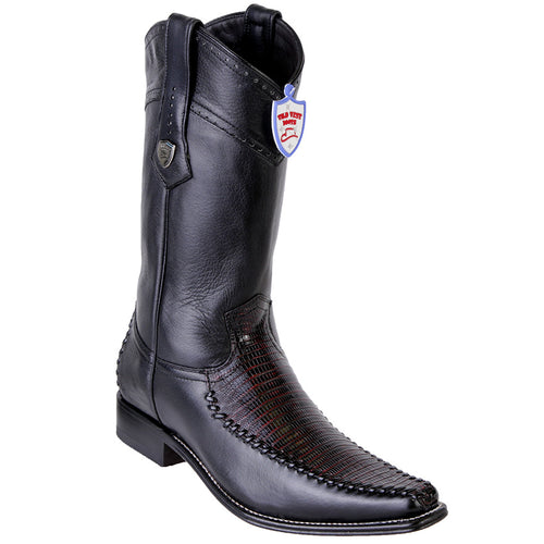 Wild West Lizard Teju European Toe Western Boots