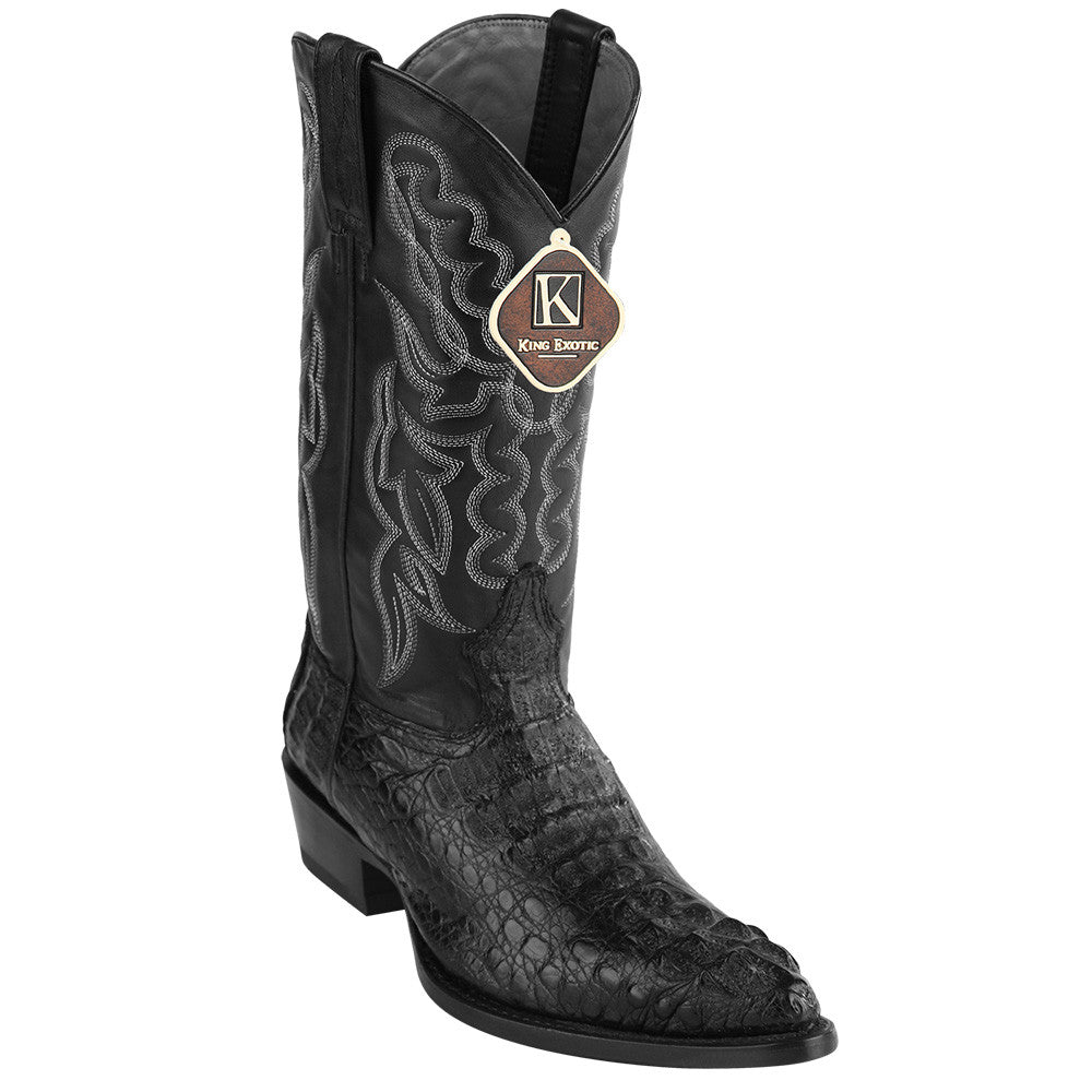 King Exotic Caiman Hornback Traditional Cowboy Boot J-Toe - VaqueroBoots.com - 4