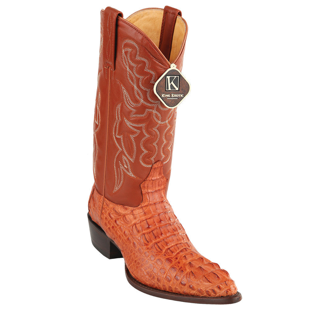 King Exotic Caiman Hornback Traditional Cowboy Boot J-Toe - VaqueroBoots.com - 3