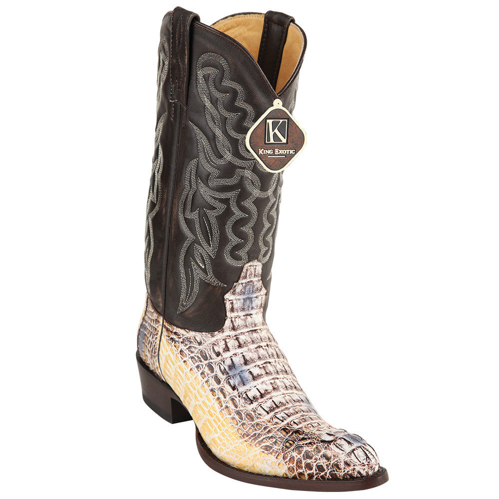 King Exotic Caiman Hornback Traditional Cowboy Boot J-Toe - VaqueroBoots.com - 1