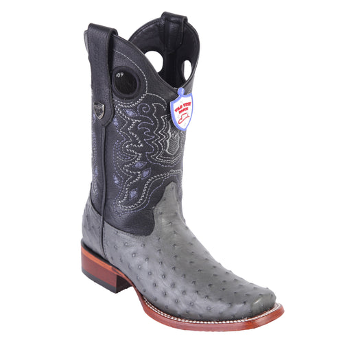 Wild West Men's Ostrich Rodeo Toe Cowboy Boots
