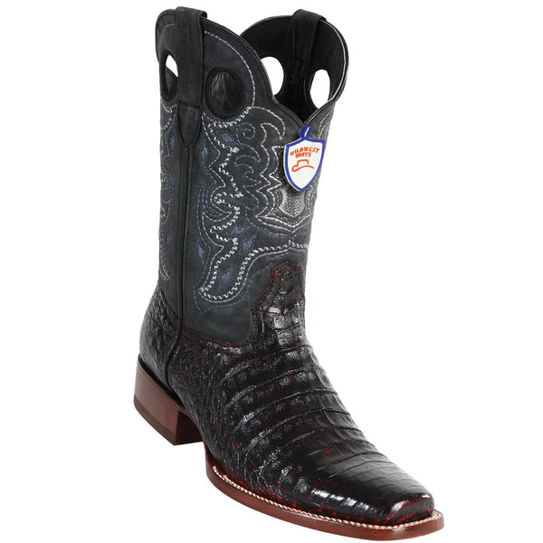 Men's Caiman Belly Cowboy Boot Wild Rodeo Toe