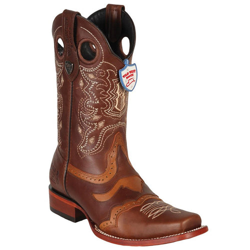 Wild West Men's WildCat Square Toe Boots - VaqueroBoots.com - 1