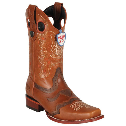 Wild West Men's WildCat Square Toe Boots - VaqueroBoots.com - 2