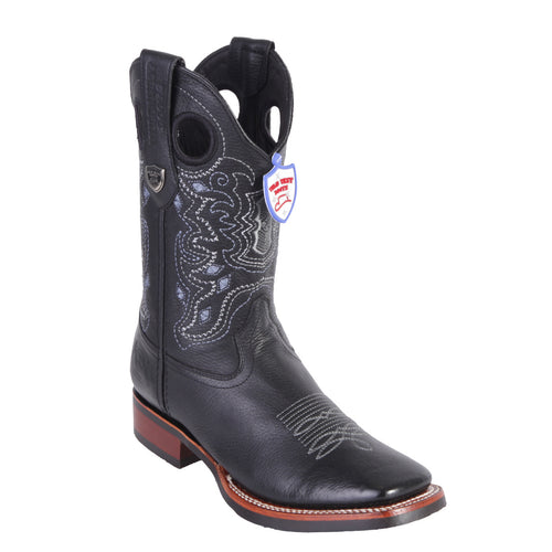 Wild West Men's Ranch Toe Square Toe Cowboy Boots