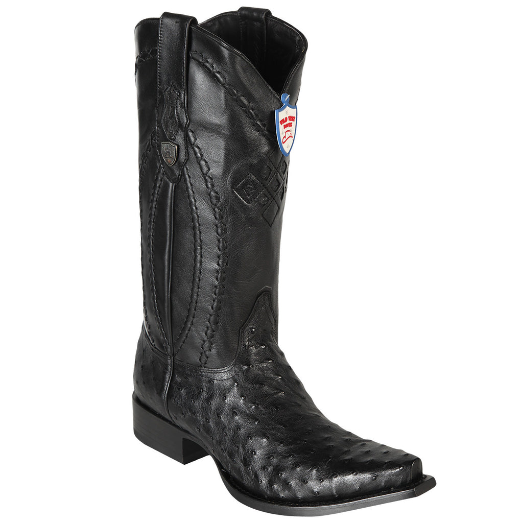 Wild West Boots Men's Ostrich Western Snip Toe