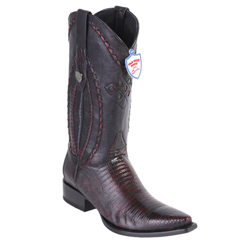 Wild West Boots Men's Lizard Snip Toe Cowboy Boots