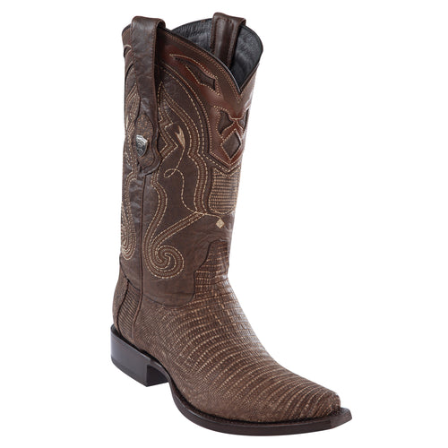Wild West Boots Snip Toe Teju Sanded