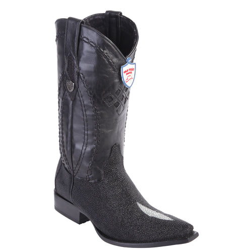 Wild West Boots Stingray Single Stone Snip Toe