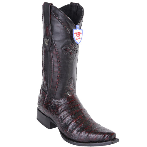 Wild West Boots Men's Caiman Belly Western Snip Toe