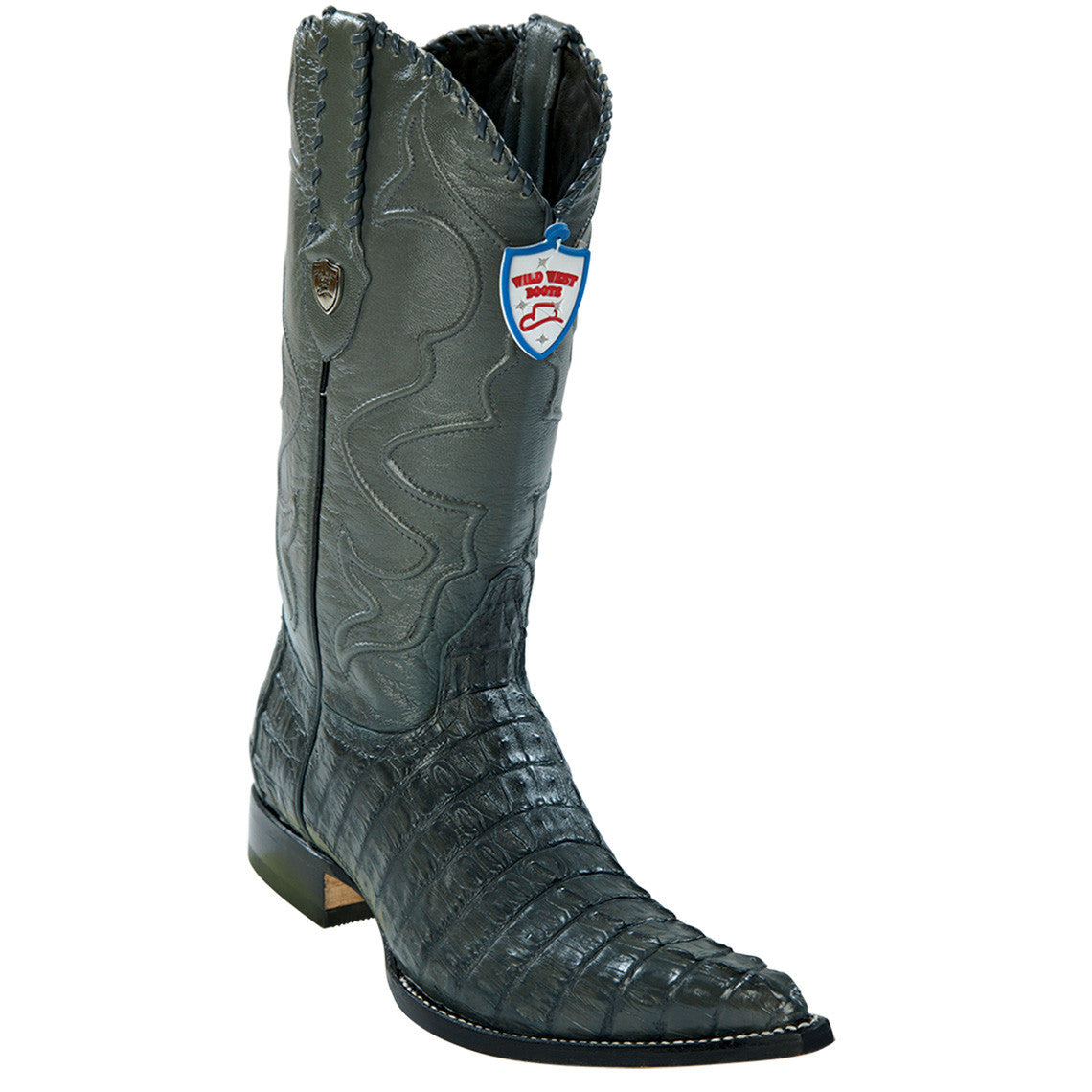 Wild West Men's Caiman Tail Cowboy Boots 3x Toe