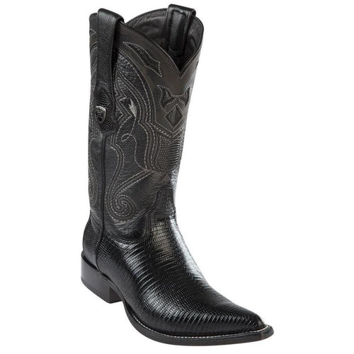 Wild West Lizard Black 3x Toe Cowboy Boots