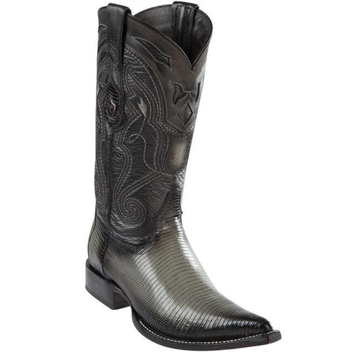 Wild West Lizard Faded Grey 3x Toe Cowboy Boots