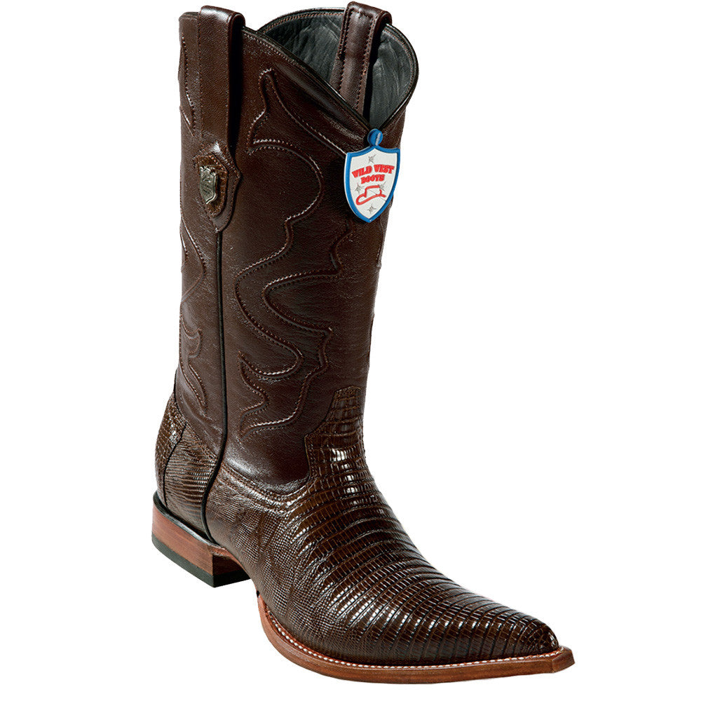 Wild West Men's Lizard Western Boots 3x Toe