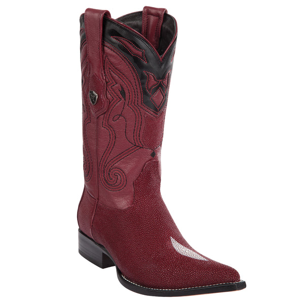Wild West Boots Men's Stingray Single Stone Western Boots 3X Toe - VaqueroBoots.com - 2