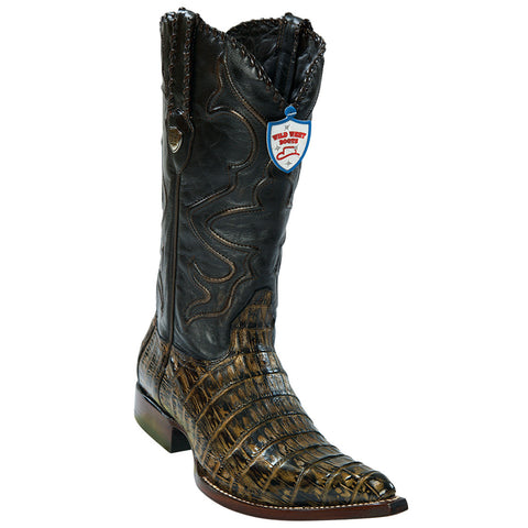 Wild West Men's Caiman Belly Cowboy Boots 3x Toe