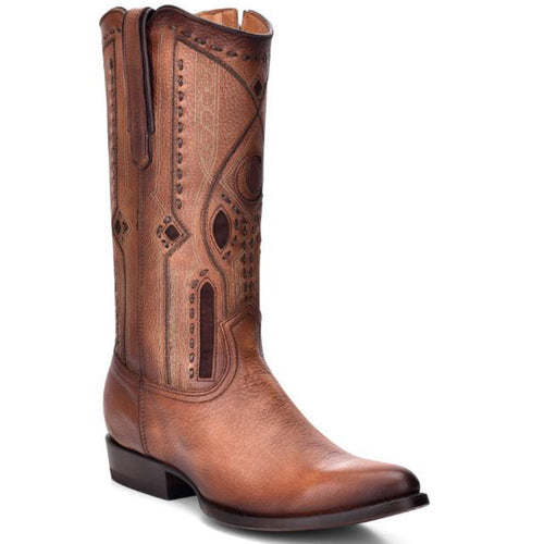 Cuadra Men's Almond Deer R-Toe Cowboy Boots